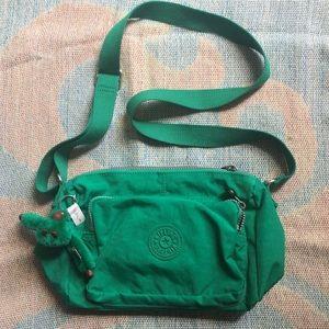 Kipling green crossbody bag